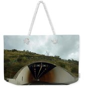 Approaching A Tunnel On A Highway In England Weekender Tote Bag