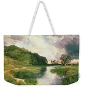 Approaching Storm Weekender Tote Bag by Thomas Moran