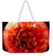 Apricot Orange Dahlia Under Glass Weekender Tote Bag