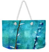 Aqua And Indigo Weekender Tote Bag by Aimelle