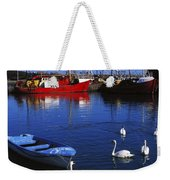 Ardglass, Co Down, Ireland Swans Near Weekender Tote Bag