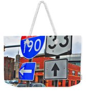Are We There Yet Weekender Tote Bag