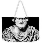 Aristotle, Ancient Greek Philosopher Weekender Tote Bag