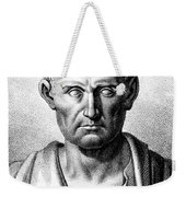 Aristotle, Ancient Greek Polymath Weekender Tote Bag by Science Source