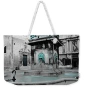 Arles Fountain With A Spot Of Color Weekender Tote Bag