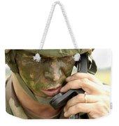 Army Master Sergeant Communicates Weekender Tote Bag