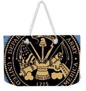 Army Medallion Weekender Tote Bag