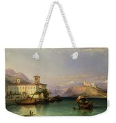 Arona And The Castle Of Angera Lake Maggiore Weekender Tote Bag