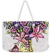Arrangement In Pink And Purple On Rice Paper Weekender Tote Bag