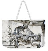 Art Gallery Statue In Cardiffs Weekender Tote Bag