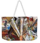 Art Is Messy 3 Weekender Tote Bag by Carol Leigh