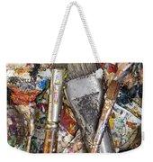 Art Is Messy 4 Weekender Tote Bag by Carol Leigh