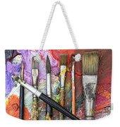 Art Is Messy 6 Weekender Tote Bag by Carol Leigh
