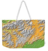 Artistic Map Of Southern Appalachia Weekender Tote Bag