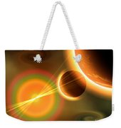 Artists Concept Of A Solar Storm Weekender Tote Bag