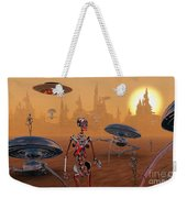 Artists Concept Of Life On Mars Long Weekender Tote Bag