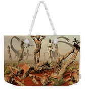 Artists Concept Of Mutated Dinosaurs Weekender Tote Bag by Mark Stevenson