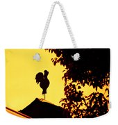 As A Rooster Crows Weekender Tote Bag by Carolyn Marshall