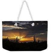 As The Sun Sets In The West  Weekender Tote Bag