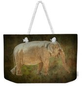 Asian Elephant Weekender Tote Bag