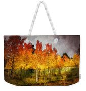 Aspen Grove In Autumn Weekender Tote Bag