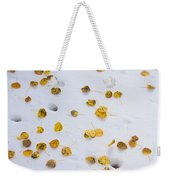 Aspen Leaves In The Snow Weekender Tote Bag by James BO  Insogna