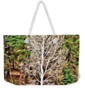 Aspen Tree On A Forest Road Weekender Tote Bag