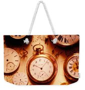 Assorted Watches On Time Chart Weekender Tote Bag