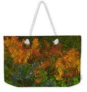 Asters And Ferns Weekender Tote Bag