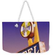 Astro Motel Retro Sign Weekender Tote Bag