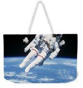Astronaut Floating In Space Weekender Tote Bag
