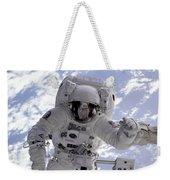 Astronaut Gernhardt On Robot Arm Weekender Tote Bag