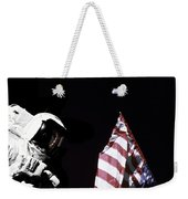 Astronaut Stands Next To The American Weekender Tote Bag