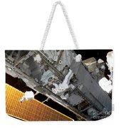 Astronaut Traverses Weekender Tote Bag