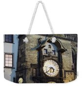 Astronomical Clock At Night Weekender Tote Bag