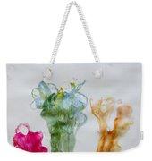 Asymetrical Flowers Weekender Tote Bag