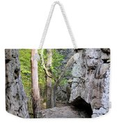 At A Cliff's Edge Weekender Tote Bag