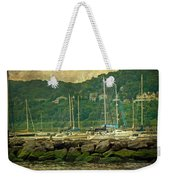 At Home In The Harbor - Atlantic Highlands  Nj Weekender Tote Bag