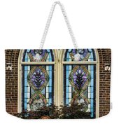 Athens Alabama First Presbyterian Church Stained Glass Window Weekender Tote Bag