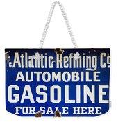 Atlantic Refining Co Sign Weekender Tote Bag