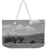 August Hay 75th  St Boulder County Colorado Black And White  Weekender Tote Bag