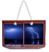 August Storm Red Barn Picture Window Frame Photo Art View Weekender Tote Bag