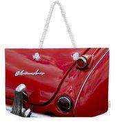 Austin-healey Tail Light And Emblem Weekender Tote Bag
