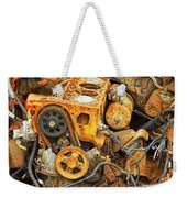 Auto Engine Block From A Wrecked Car Weekender Tote Bag