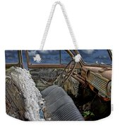 Auto Interior Of Abandoned Vehicle Weekender Tote Bag