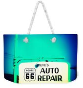 Auto Repair Sign On Route 66 Weekender Tote Bag