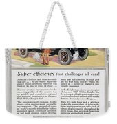 Automobile Ad, 1926 Weekender Tote Bag