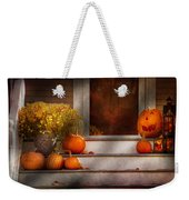 Autumn - Halloween - We're All Happy To See You Weekender Tote Bag by Mike Savad