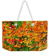 Autumn Abstract Painterly Weekender Tote Bag