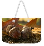 Autumn Acorns Weekender Tote Bag